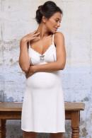 Νυχτικό εγκυμοσύνης-θηλασμού από μικροϊνα. Δαντέλα στις θήκες