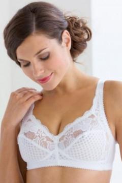 Δαντελένιο νυφικό ΣΟΥΤΙΕΝ χωρίς μπανέλες κατάλληλο για βαρύ στήθος