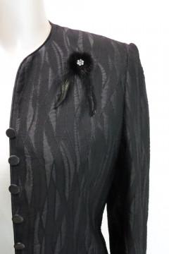 ΖΑΚΕΤΑ μαύρη με φίνο κέντημα για επίσημες εμφανίσεις