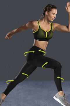 Αθλητικό ΚΟΛΑΝ compression fabric 3D με ειδικές κουκίδες που κάνουν μασάζ στο σώμα.