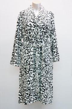 Λεοπάρ ΡΟΜΠΑ fleece μακριά με τσέπες πλαϊνές και ζώνη