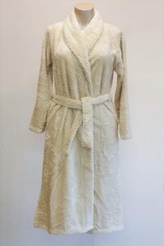 Χουχουλιάρικη, μακριά ΡΟΜΠΑ  fleece με πλαϊνές τσέπες και ζώνη