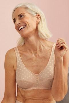 Κομψό ΣΟΥΤΙΕΝ μαστεκτομής χωρίς μπανέλες απο ύφασμα που αφήνει το δέρμα να αναπνεύσει